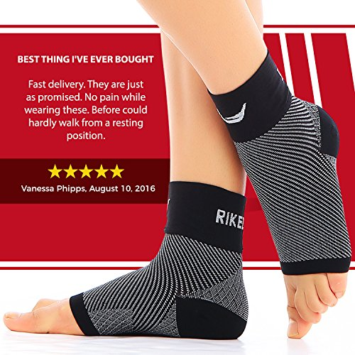 4ab86c1216 Rikedom Sports (1 Pair) Best Plantar Fasciitis Foot Sleeves Graduated  Compression Heel Arch Ankle