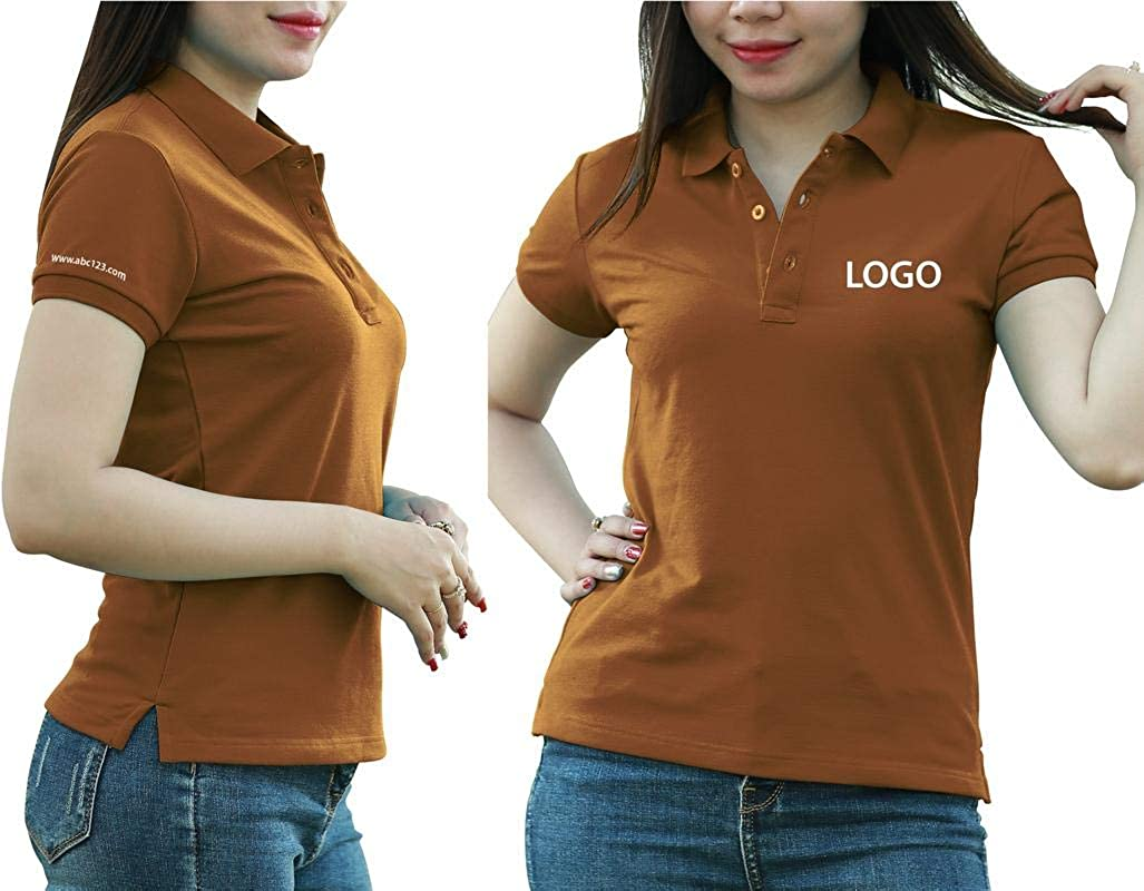 Sizes Colors Print On Polo /& T-Shirt with Multi Sides Add Custom Personalize Your Logo Text Pack of 10 Grey Melange