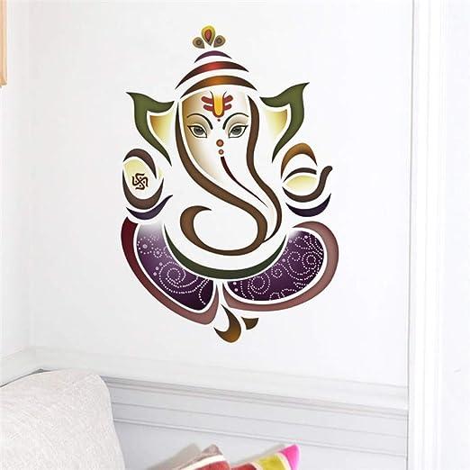 XCSJX Tatuajes de Pared Ganesh Elephant Yoga Studio Decal ...