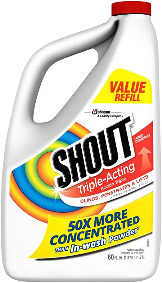 Shout Triple actuando lavandería Quitamanchas, Trigger Spray (Pack ...