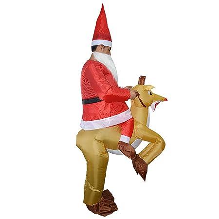 ShiyiUP Disfraces Inflable Flamencos Traje Hinchable para Halloween (Adultos, Papá Noel y Alces)