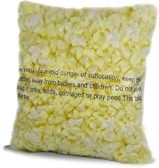 or Dog Beds Made in The USA 10 LB Lounj Shredded Memory Foam Fill for Cushions Bean Bags Pillows Crafts