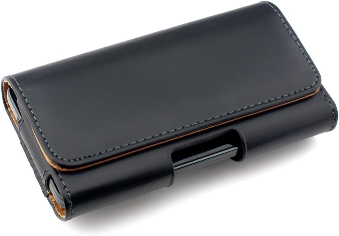 kwmobile Funda para Smartphone - Carcasa con Clip de cinturón - Cover de Cuero sintético 14.4 x 7 CM