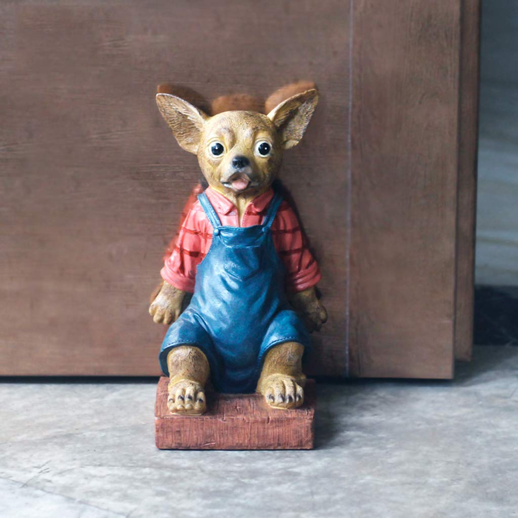 ZPWSNH Chihuahua Door Stop Door Resistance Anti-Collision Free Punching Floor Decoration Creative Cartoon Resin Crafts Book File Book by 14x22cm Bookshelf by ZPWSNH (Image #2)