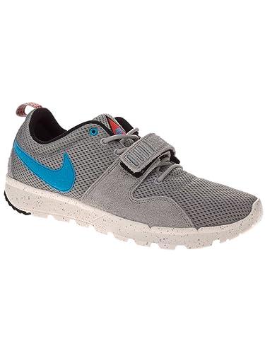 9ac5a9226278 Image Unavailable. Image not available for. Color: Nike SB Trainerendor - Base  Grey / Sail-Black-Vivid Blue ...