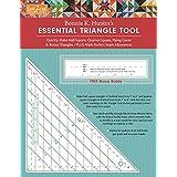 fast2cut Bonnie K. Hunter's Essential Triangle Tool: Quickly Make Half-Square, Quarter-Square, Flying Geese & Bonus Triangles • Plus Mark Perfect Seam Allowances • FREE Bonus Buddy Ruler