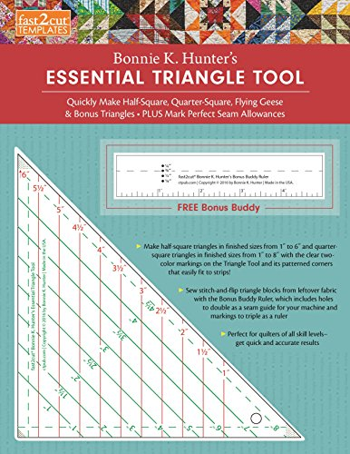 fast2cut Bonnie K. Hunter's Essential Triangle Tool: Quickly Make Half-Square,