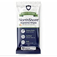 NorthShore Supreme Heavy-Duty Quilted Wipes, X-Large, 9 x 13 in, 50 ct, 3-Pack