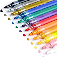 Acrylic Paint Pens for Rocks Painting, Ceramic, Glass, Wood, Fabric, Canvas, Mugs, DIY Craft Making Supplies…