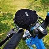 XIEJ Altavoz Bluetooth portátil para Bicicleta con Ventosa, Soporte de fijación de Bicicleta, Bluetooth 5.0 y 10 h de Tiempo