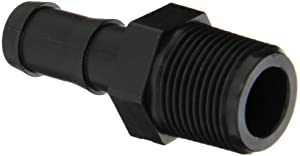 """Banjo HB075-058 Polypropylene Hose Fitting, Adapter, 3/4"""" NPT Male x 5/8"""" Barbed"""