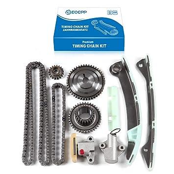ECCPP TK3043 Timing Chain Kit Tensioner Guide Rail Shaft Sprocket Replacement For 07 14 Nissan Sentra Versa 1 8L 2 0L DOHC MR20DE