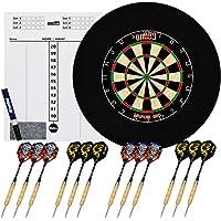 one80 professional perfection Dartboard - Sisal dartschijf - Inclusief [6X] stalen dartbord + roterende nummerring