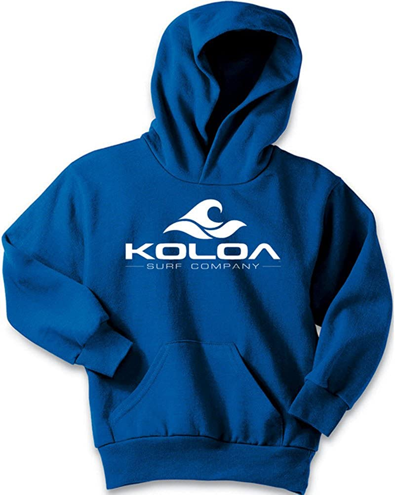 Koloa Wave Logo Youth Hoodies-Pullover Hooded Sweatshirts in 24 Colors USALCW5711733