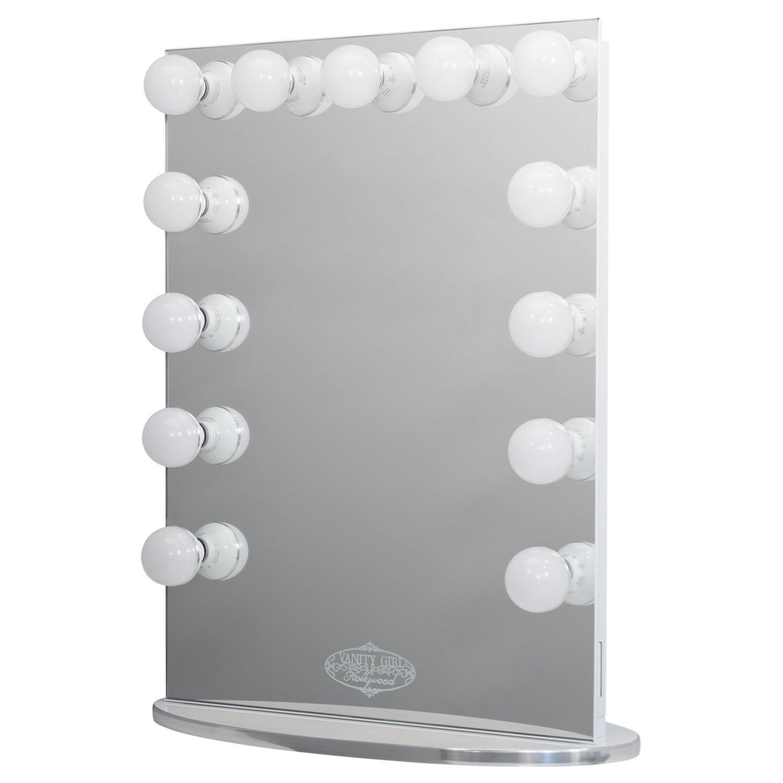 Amazon.com - Vanity Girl Hollywood Infinity Mirror. Lighted (13 Bulb ...