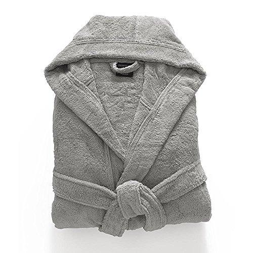 TurkishTowels Babylon Collection Mens and Womens Hooded Bathrobe