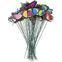 UPKOCH 50 stuks tuinstekers decoratieve stekers tuin vlinders stangen staken voor terras bloempot stekers gazon planten…