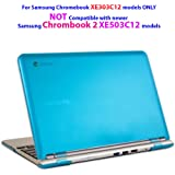 "iPearl mCover Hard Shell Case for 11.6"" Samsung XE303C12 series Chromebook (Wi-Fi or 3G) laptop (Not Compatible with Samsung Chrombook 2 XE503C12 / XE500C12 and Samsung Chromebook 3 XE500C13) - AQUA"