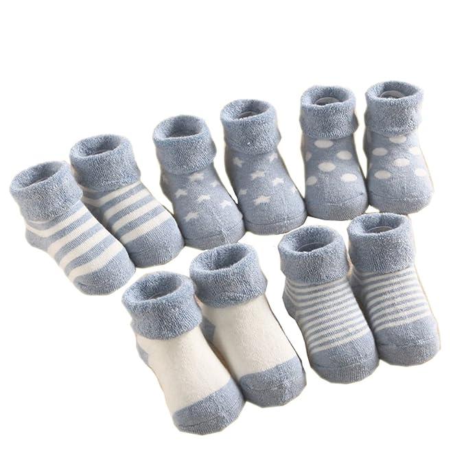 Estwell 5 Pares 1-3 Años Bebé Niños Niñas Calcetines Invierno Calentar Algodón Calcetines: Amazon.es: Ropa y accesorios