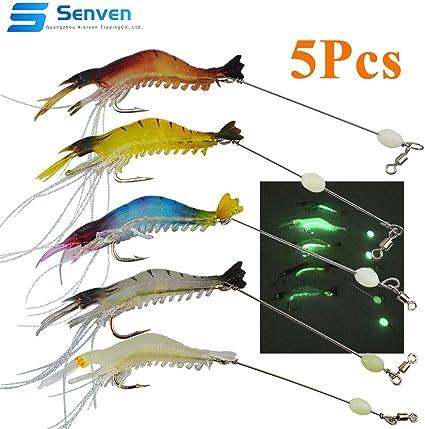 Morbido Bagliore Calamari Esche da Pesca manovella Esca da Pesca Pesca a Traino Accessorio VGEBY1 5 Pezzi Esche da Pesca Luminosa