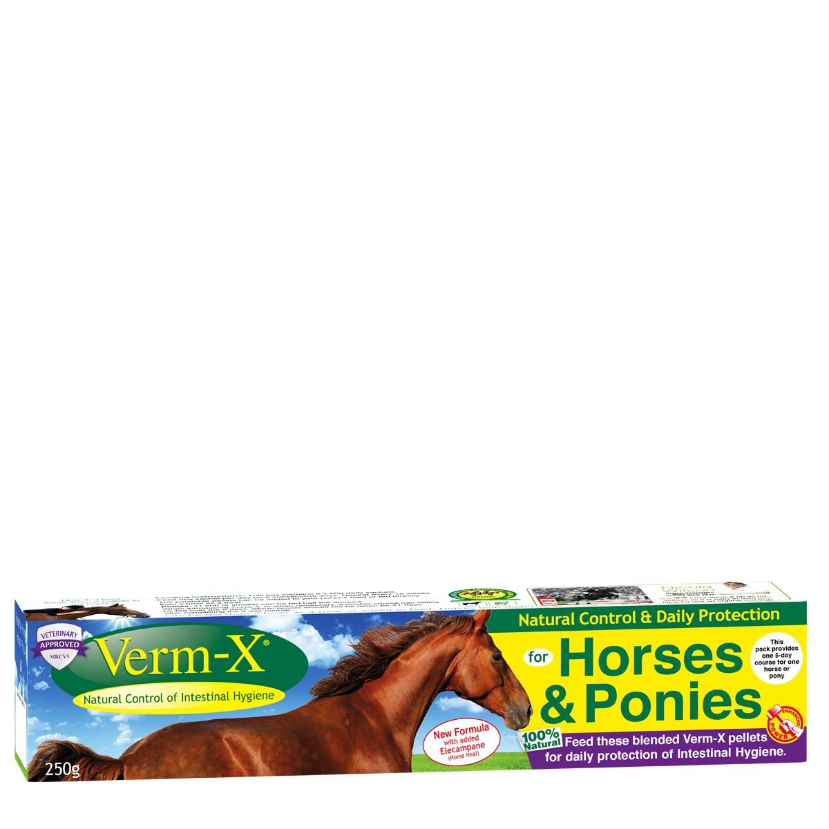negozio outlet VERM-X HERBAL PELLETS FOR HORSES & PONIES - 12 X X X 250 GM BOX - VMX0102  il più alla moda