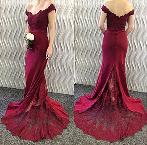 Bainjinbai Elegant V Ausschnitt Lange Rot Damen Abend Cocktail Ball Formal  Kleider Party Kleider ...