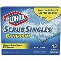 CloroxScrubSingles, Bathroom, Bleach Free Cleaning Pad - Rain Clean, 12 Count