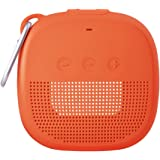 Aotnex Silicone Case for Bose SoundLink Micro Bluetooth Speaker, Super Soft Waterproof Shockproof Cover with Portable Metal Hook Fits Bose Micro Speaker for Secure Outdoor Protection(1 Pack) (Orange)