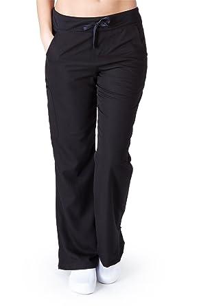 306981dbfd6 Ultra Soft Scrubs - Womens Flare Cargo Scrub Pant, Black 38802-XX-Small