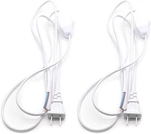 White Lamp Power Cord Dimmer Switch AC 250V//110V 50//60Hz US Plug