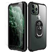 Amuoc iPhone 11 Pro Max Case,[ Military Grade ] with [ Glass Screen Protector] 15ft...