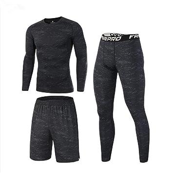 37b90fc4b8804b GKKXUE 3 Stücke Mens Fitness Gym Kleidung Set