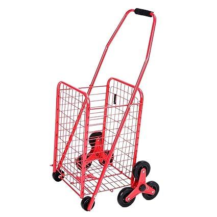 SXRNN Carrito de Compra 6 Ruedas Carro de Escalada de supermercado para Personas de Movilidad Limitada