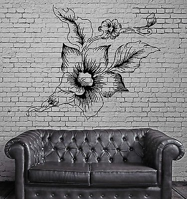 Peony Asian Flower Love Symbol Floral Bouquet Wall Mural Vinyl Art Sticker M610 (Asian Bouquet)