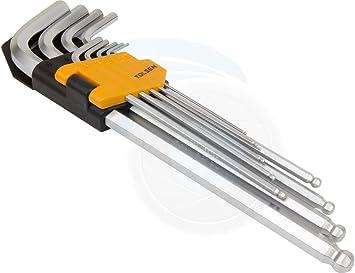 9pcs Extra Long Arm Allen Hex Ball L Key Set Hexagon Wrenches Metric