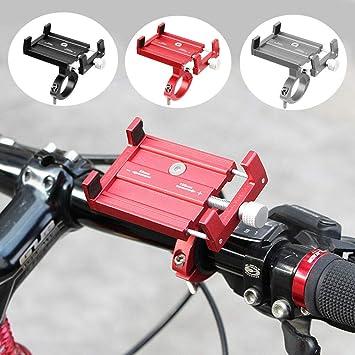 Soporte de Aluminio para Manillar de Bicicleta MTB, Color Rojo: Amazon.es: Electrónica