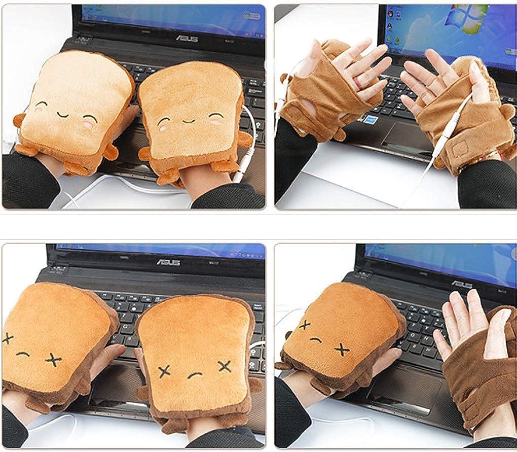 zu lernen zu arbeiten 1 Paar USB Handw/ärmer Winter USB-Heizung Fingerlose Handschuhe Beheizbare Warme Handschuhe Damen M/ädchen Cartoon Elektrische Handschuhe Einfach zu tippen
