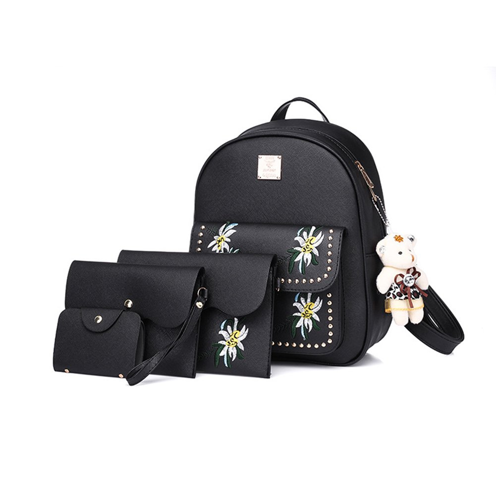 4 Sets Of Women Bags Fashion Female Backpacks Top-handle Bag Shoulder Bag Girls Card Package