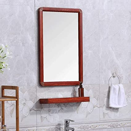 Amazon.com: Zhpijiep Simple Bathroom Mirror with Frame Wall ...