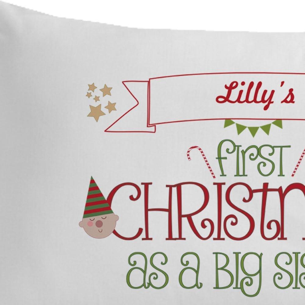 1st Christmas as a big sister, personalised sister gift, sibling ...