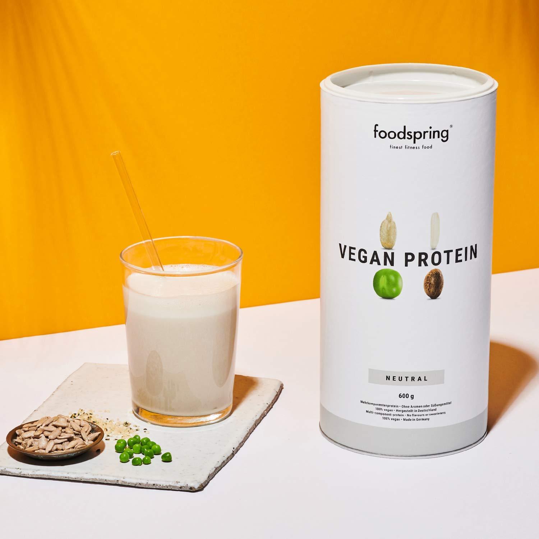 foodspring Proteínas Vegetales, Neutro, 600g, 100% proteína vegetal, Fabricada en Alemania: Amazon.es: Salud y cuidado personal