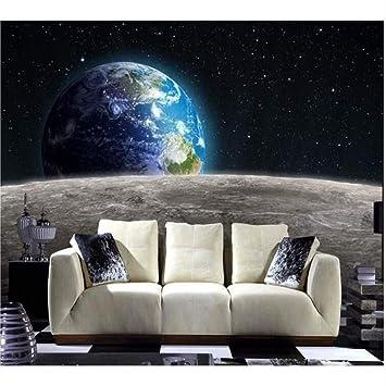 Xbwy Papel Tapiz Fotográfico Moderno Star Earth Universo 3D Luna ...