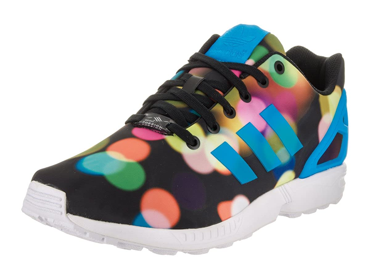 best loved 0e83d a9cb8 Amazon.com   adidas ZX Flux (Photo Print) in Black Blue White Mens, 12    Fashion Sneakers