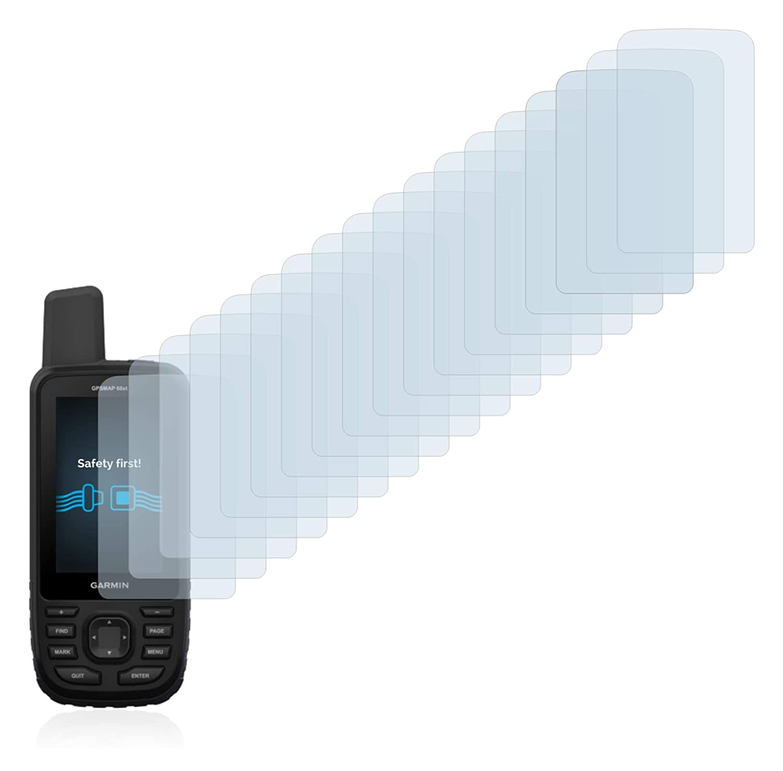 Pelicula Ultra Transparente savvies Protector Pantalla Compatible con Garmin GPSMAP 66st 18 Unidades