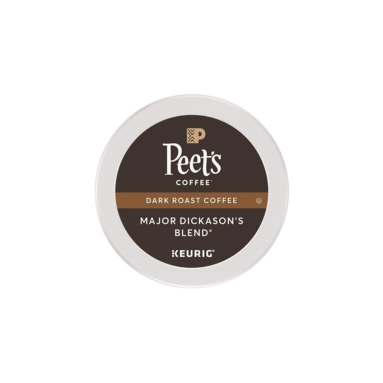 Peet's Coffee Major Dickason's Blend, Dark Roast, 16 Count Single Serve K-Cup Coffee Pods for Keurig Coffee Maker by Peet's Coffee
