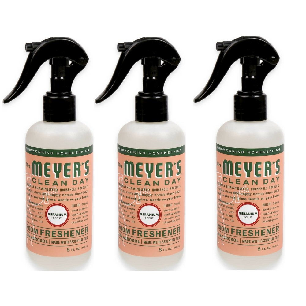 Mrs. Meyer's Clean Day Room Freshener Geranium 8fl oz 3 pack