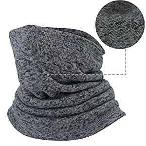 AIWOLU Neck Gaiter Warmer in Winter Face Ski Mask Scarf for Men Women Skiing Snowmobile Snowboard Hiking Dating and Outdoor Working, Mens, Grey, One Size