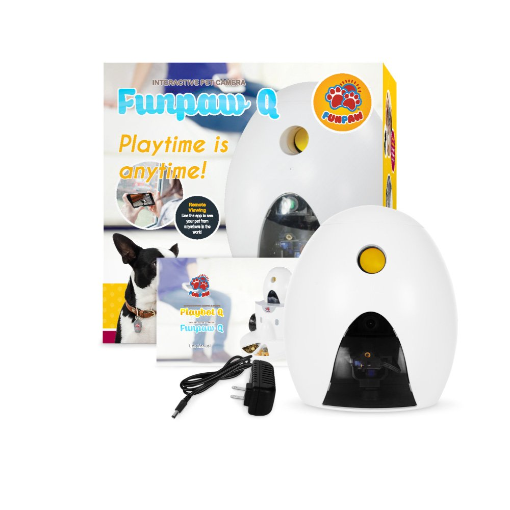 FUNPAW Q Cat & Dog Treat Dispenser w/Toy Laser: Monitor from Anywhere w/the App, 720p Hi-Res Pet Camera & 2-Way Audio by FUNPAW (Image #6)