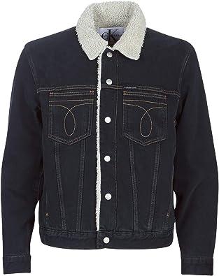 CALVIN KLEIN Jeans Iconic Omega Sherpa Denim Jacket Chaquetas Hombres Azul Chaquetas Denim: Amazon.es: Zapatos y complementos