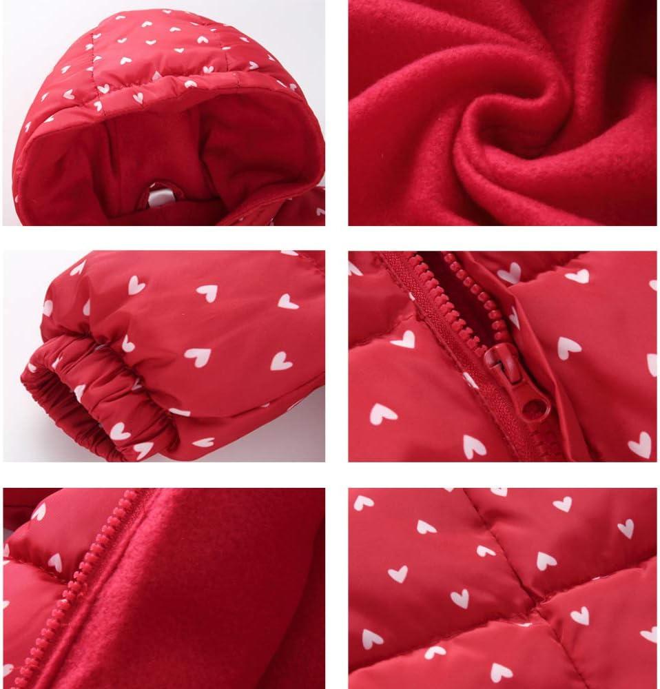 Baby Schneeanzug Winter Overall Spielanzug Outfits Mit Kapuze Jungen Jumpsuit Kinder M/ädchen Schnee Tragen Dick S/äugling Strampler,Blue-5-12Monate